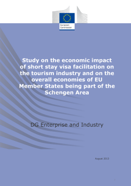 Study on the economic impact of short stay visa facilitation