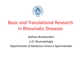 Basic and Translational Research in Rheumatic Diseases