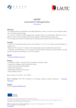 LAUTC – Learn About Us Through Culture