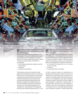 RFID AND AUTOMATION RFID e Automazione One of the