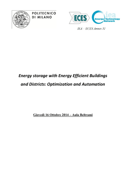 Energy storage with Energy Efficient Buildings and Districts