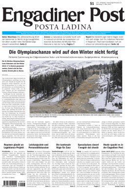 Engadiner Post Nr. 051 vom 02. Mai 2015