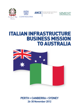 italian infrastructure business mission to australia