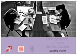 First cycle and full cycle degree courses