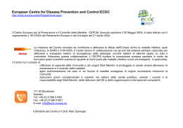 European Centre for Disease Prevention and Control-ECDC