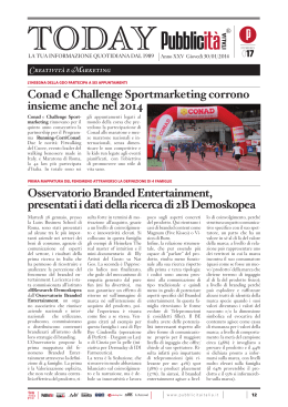 Pubblico Today - Osservatorio Branded Entertainment