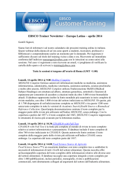 newsletter italian april 2014