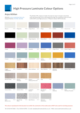 Print HPL colour Options