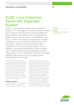 SUSE® Linux Enterprise Server with Expanded Support