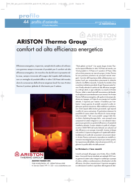 ARISTON Thermo Group comfort ad alta efficienza energetica