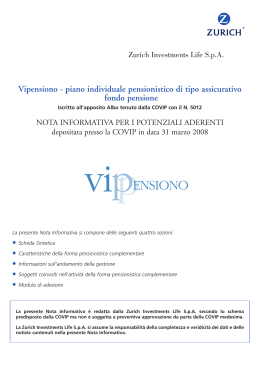 Vipensiono - piano individuale pensionistico di tipo