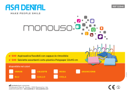 Offerta 1 monouso colorato Asa Dental
