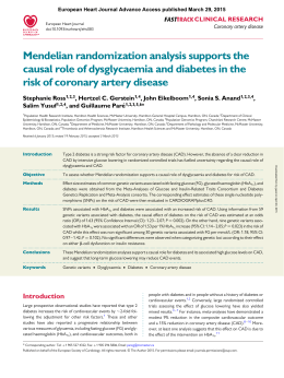 Mendelian randomization analysis supports the causal role of