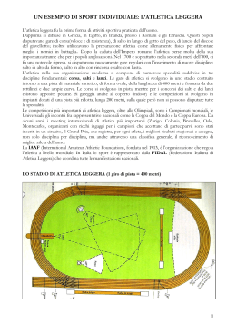 l`atletica leggera - Via T. Mommsen, 20