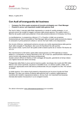 Con AUDI all`avanguardia del business