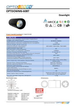 OPTDOWM6-60BT Downlight OPTOLUMIN