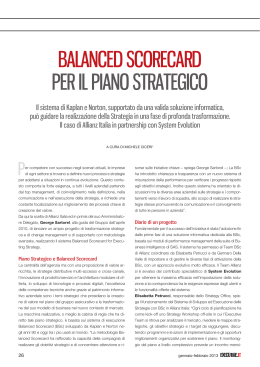 BALANCED SCORECARD PER IL PIANO