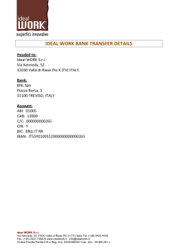 IDEAL WORK BANK TRANSFER DETAILS