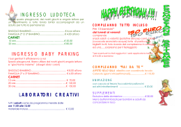 ingresso ludoteca ingresso baby parking laboratori