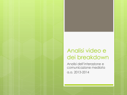 Analisi video e dei breakdown