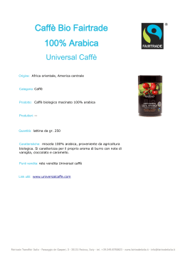 Caffè Bio Fairtrade 100% Arabica da gr