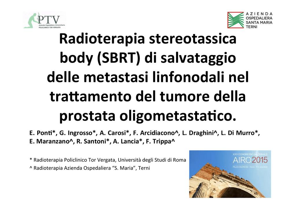 sbrt per carcinoma prostatico metastatico