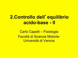 2.Controllo dell`equilibrio acido-base - II