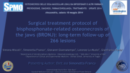 Surgical treatment protocol of bisphosphonate