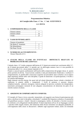 4C - Liceo scientifico Boggio Lera