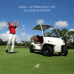 Garia – La prima GoLf car di Lusso in Europa