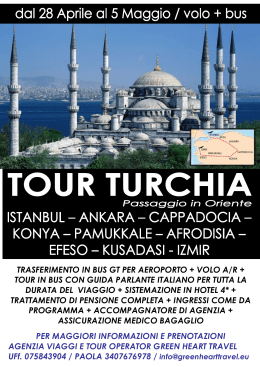 trasferimento in bus gt per aeroporto + volo a/r + tour in bus con
