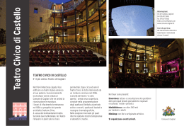 Teatro Civico di Castello - The Edinburgh Gadda Prize