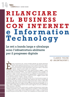 Rilanciare il business con internet e Information Technology