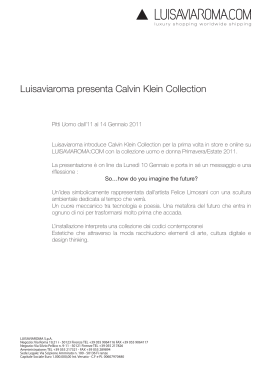 Luisaviaroma presenta Calvin Klein Collection