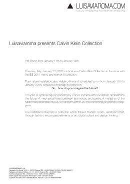 Luisaviaroma presents Calvin Klein Collection