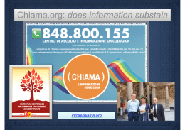 Survivors and Chronic Cancer Patients: Chiama Org