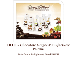 DOTI – Chocolate Dragee Manufacturer Polonia