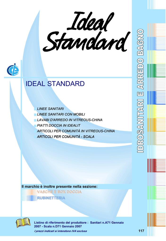 Listino Prezzi Sanitari Ideal Standard. Listino Prezzi Sanitari ...