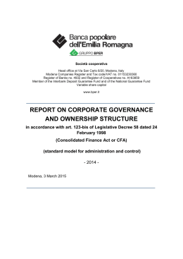 report on corporate governance and ownership structure