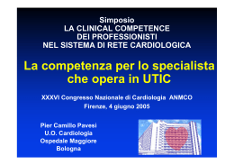Clinical Competence del Cardiologo UTIC - Area-c54