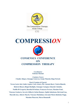 Consensus conference on Compression Therapy - S.I.F.