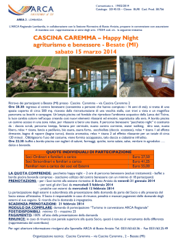 CASCINA CAREMMA – Happy Night agriturismo e