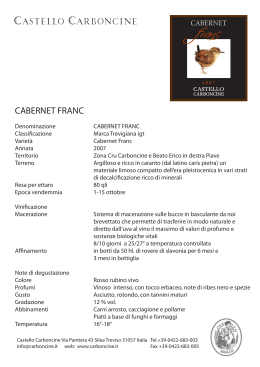 it cabernet franc - Castello Carboncine