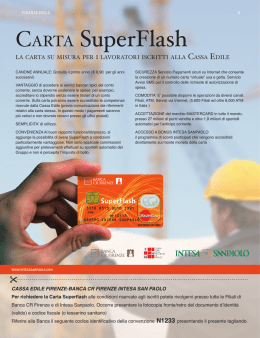 Carta Superflash - Cassa Edile Firenze