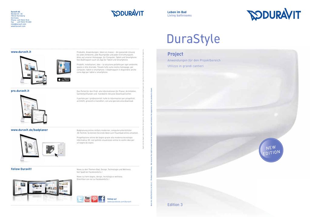 DURAVIT serie Durastyle 228615 Bidet sospeso 62 finitura bianco