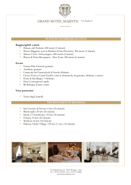 Punti di interesse - Grand Hotel Majestic