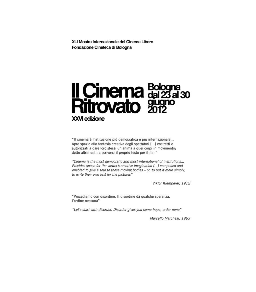 Catalogo - Cineteca di Bologna 64207b05a28f