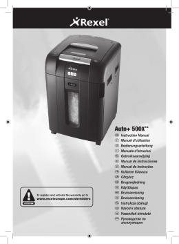 1545 Auto+500X Shredder EU Manual.indd