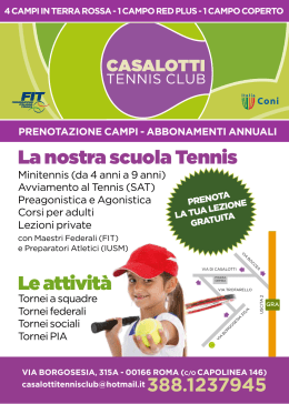Brochure - Casalotti Tennis Club
