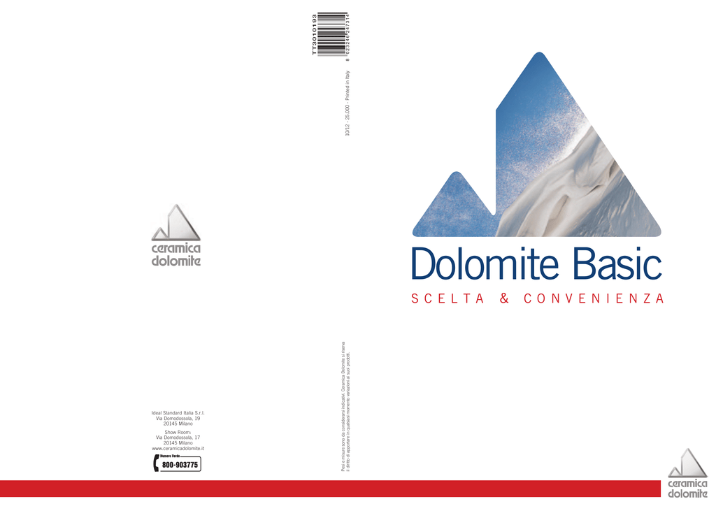 Ceramica Dolomite Schede Tecniche.Schede Tecniche Ceramica Dolomite